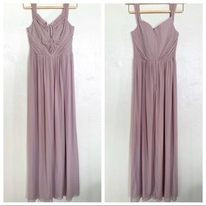ASOS mauve full length gown size 6 sweetheart neck
